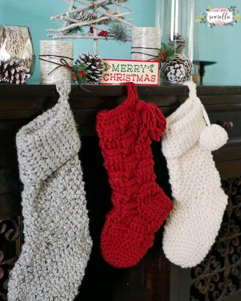 crochet christmas stocking jumbo