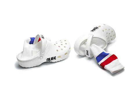 crocs con calcetines alife, crocs calcetines, crocs alife