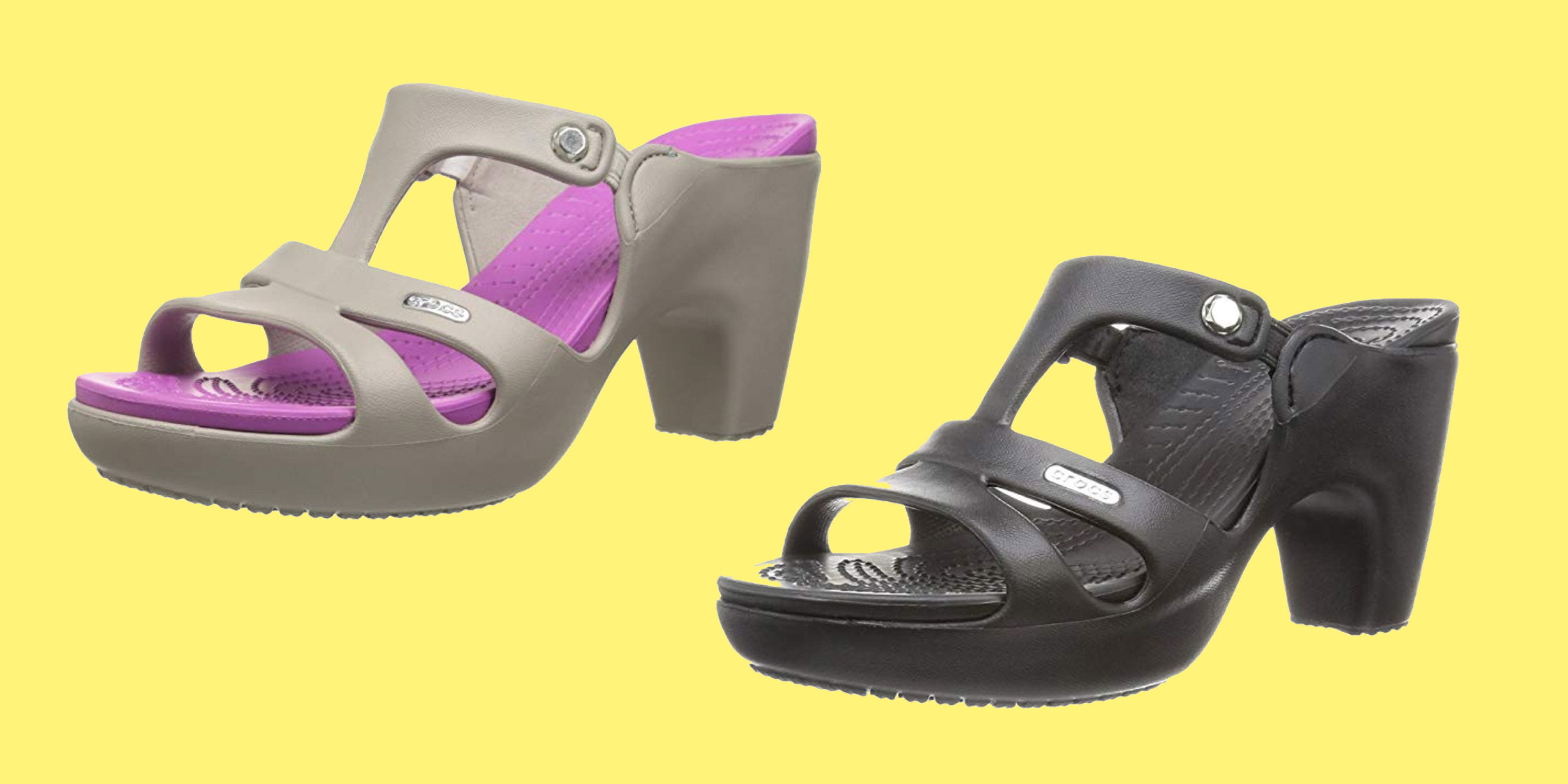 705905a9d4f1 High-Heeled Crocs Are Super Popular and I Don t Know What to Believe Anymore