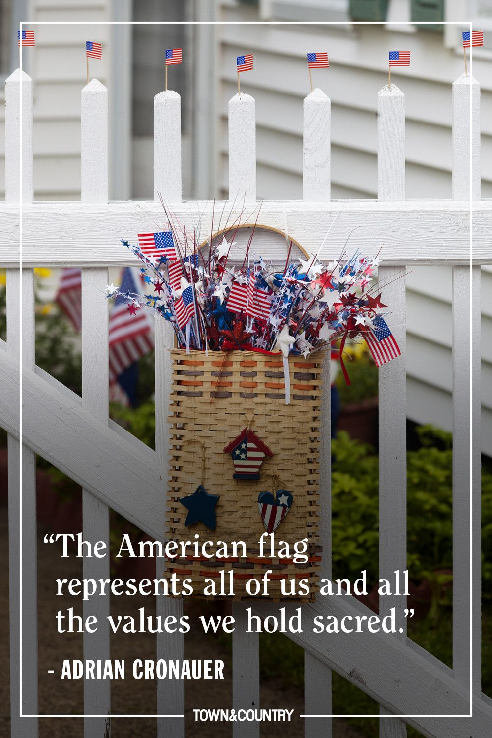 """""""The American flag represents all of us and all the values we hold sacred."""" — Adrian Cronauer"""