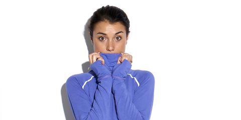 Blue, Sleeve, Collar, Shoulder, Jacket, Standing, Elbow, Electric blue, Sweatshirt, Neck,
