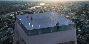 世界第一座360°無邊際透明泳池在倫敦!Infinity London 用小潛艇送你到進高空游泳!
