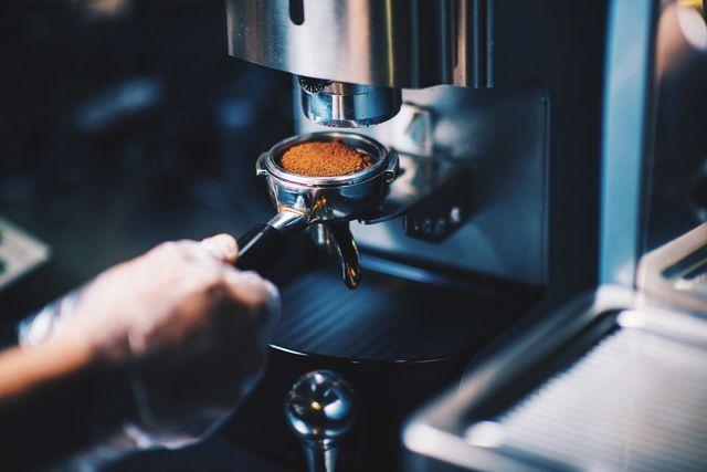 cafetera de barista