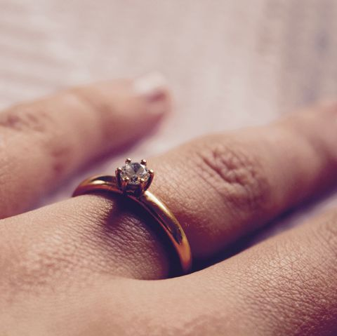 Cropped Hand Of Woman Wearing Ring