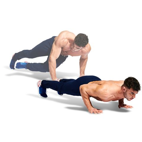 Press up, Arm, Shoulder, Joint, Physical fitness, Abdomen, Leg, Knee, Plank, Fitness professional,