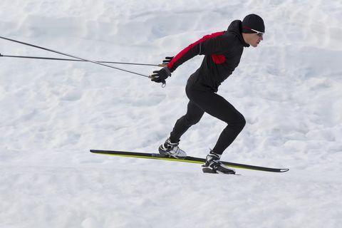Cross-Country Skate Ski Man