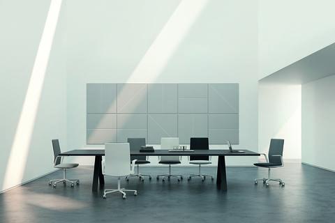Tavoli e scrivanie da ufficio:Cross di Metrica per Arper