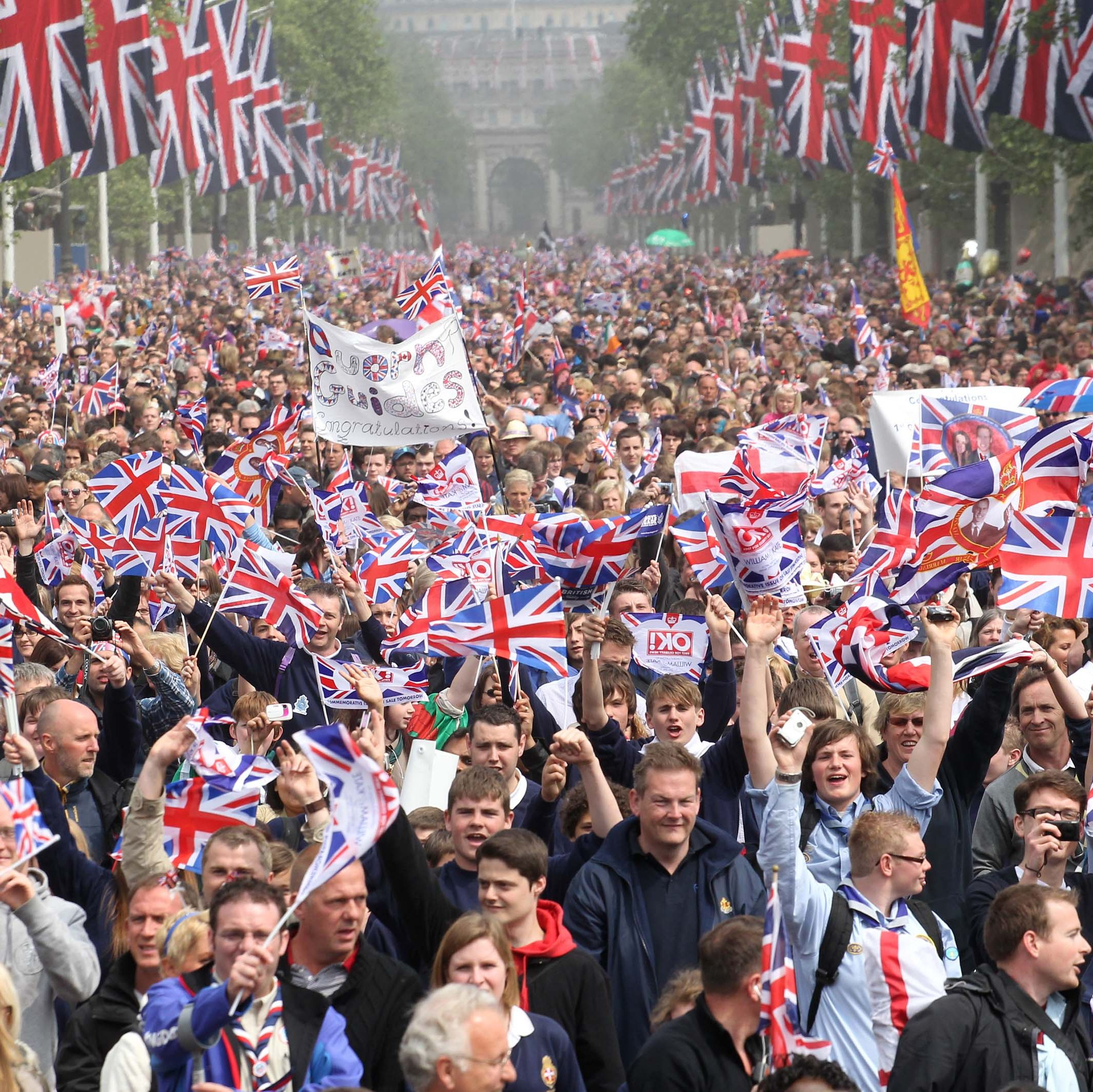 The Wedding of Prince William with Catherine Middleton - Crowd General Views