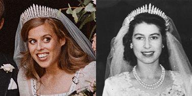 Princess Beatrice Borrows Tiara Queen Elizabeth Wore On Wedding Day