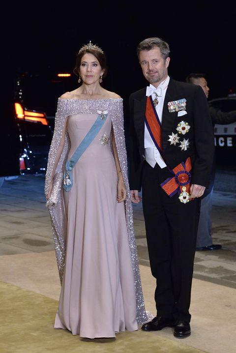 Mary y Federico de Dinamarca en la cena de gala de la entronización de Naruhito en Japón