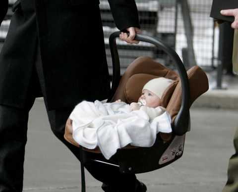 Royals Arrive At Oslo Airport For The Christening Of Prince Sverre Magnus