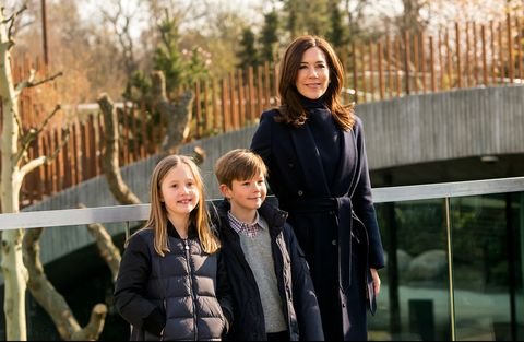 crown princess mary of denmark visits copenhagen zoo opening