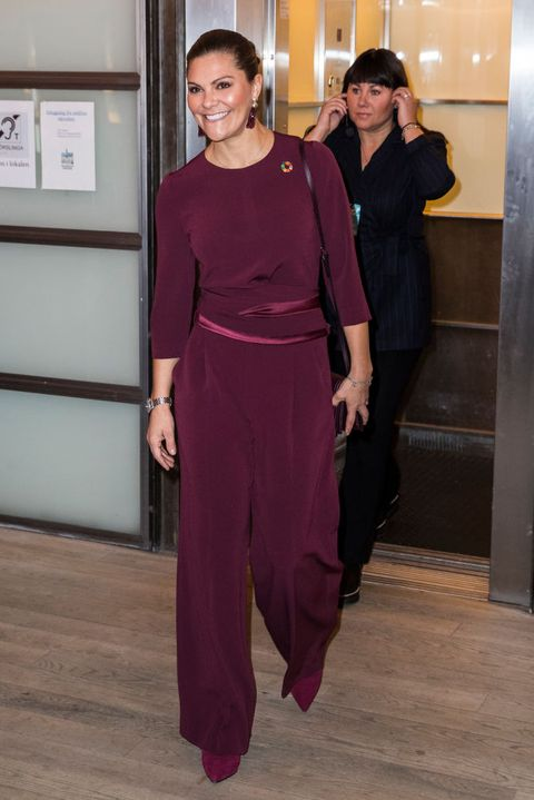 """crown princess victoria of sweden attends the seminar """"do we have room for plastic in a sustainable future"""""""