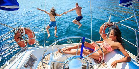 Fun, Recreation, Leisure, Watercraft, Summer, Boat, Outdoor recreation, Vacation, Muscle, Swimwear,