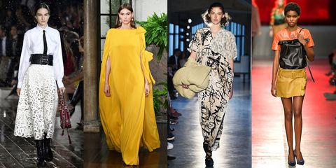 Fashion model, Fashion, Clothing, Yellow, Haute couture, Orange, Fashion design, Dress, Street fashion, Style,