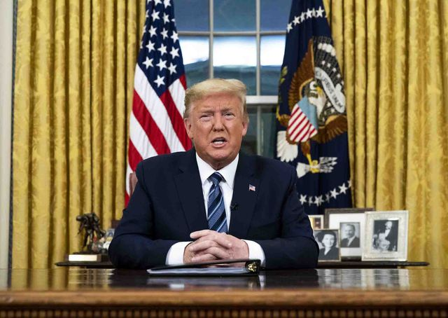 president donald trump addresses the nation from the oval office about the widening coronavirus crisis,  wednesday, march, 11, 2020  pool photo by doug millsthe new york times  nytvirus