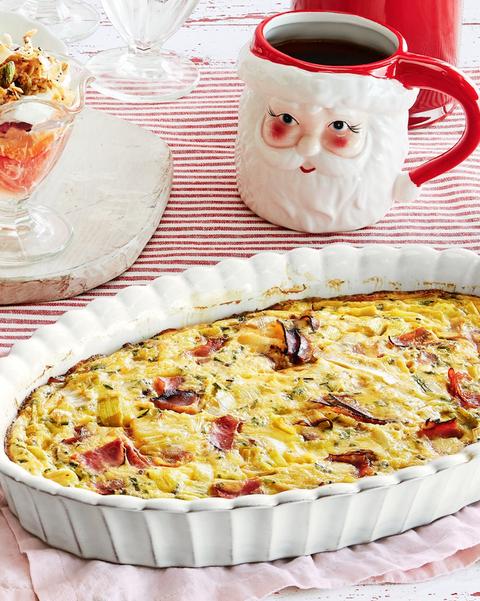 crustless ham and leek quiche recipe