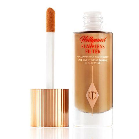 charlotte tilbury hollywood flawless filter primer  highlighter corrector