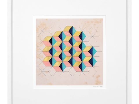 Teal, Triangle, Beige, Pattern, Rectangle, Feather, Art,
