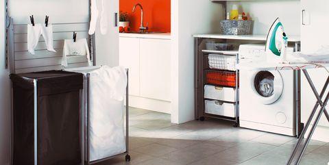 Cómo crear una zona de lavado y plancha bien aprovechada