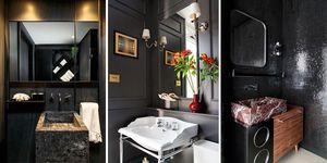 Cuartos de baño negros