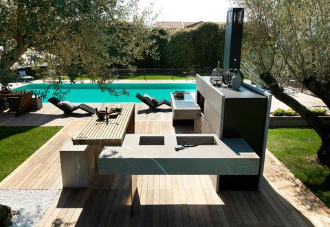 La cucina da esterno componibile e modulare di Modulnova