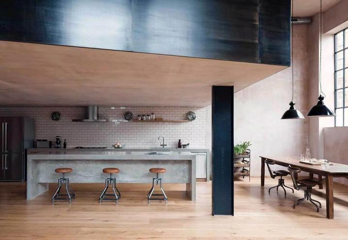 5 cucine a vista per soggiorni open space