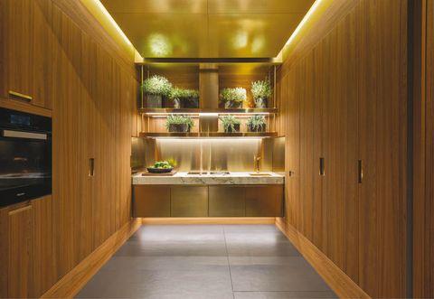 Lighting, Wood, Interior design, Floor, Flooring, Wood stain, Interior design, Glass, Ceiling, Hardwood,