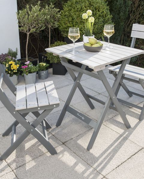 Ibiza Grey Bench Dining Set