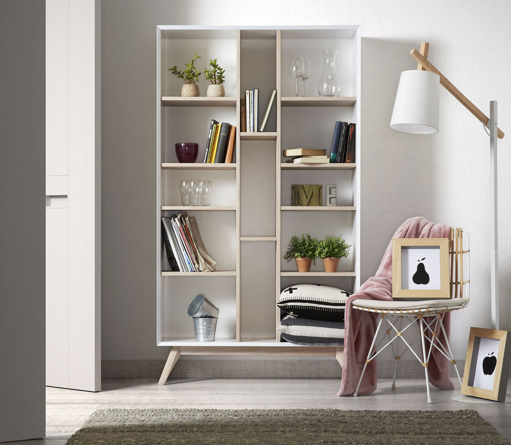 With 13 Separate Storage Compartments, This Scandi Style Bookcase Will  Perfectly Complement Your Interiors.
