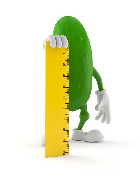 cucumber character holding ruler