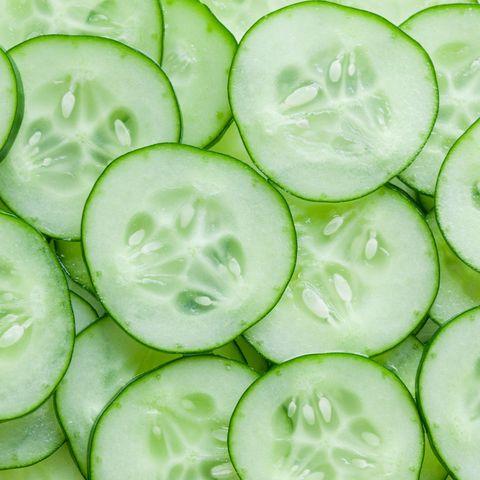 cucumber on eyes