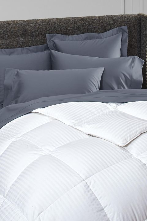 best down alternative comforters - cuddledown damask stripe synthetic fill comforter