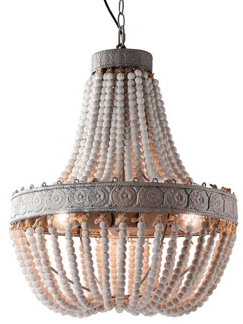 Lámpara de techo te techo de cuentas, modelo vintage