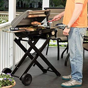 Barbecue, Outdoor grill, Barbecue grill, Table, Folding table, Cuisine, Furniture, Cooking, Grilling, Backyard,