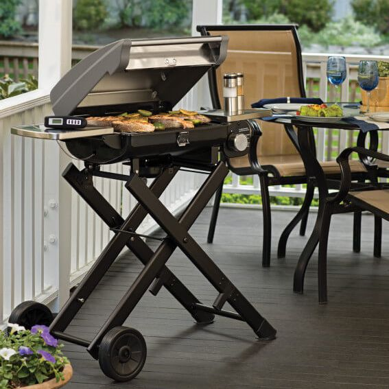 Furniture, Table, Barbecue, Desk, Outdoor table, Folding chair, Outdoor grill, Cuisine, Chair, Backyard,