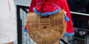 Vegan tassen, cult gaia, rieten tassen, houten tas