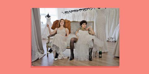 Dress, Fashion, Gown, Wedding dress, Photography, Fun, Bridal clothing, Stock photography, Formal wear,