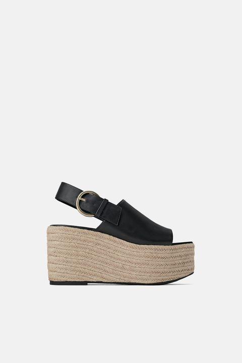 Footwear, Shoe, Beige, Espadrille, Slingback, Sandal, Sneakers, Wedge, Leather,