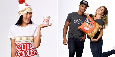 Product, Junk food, T-shirt, Cap, Muscle, Headgear, Brand, Knit cap, Drink, Logo,