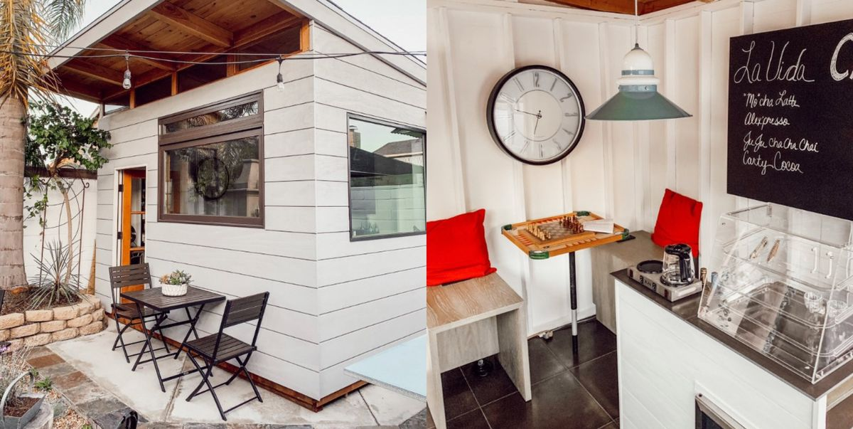 A Dad Built a Personal Coffee Shop in His Backyard and It's Incredible