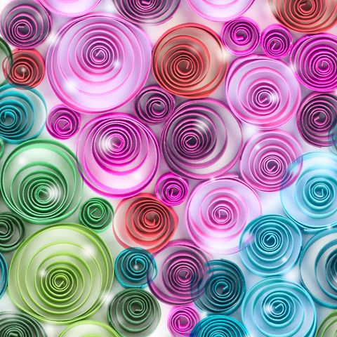 curling palette rainbow paper abstract background