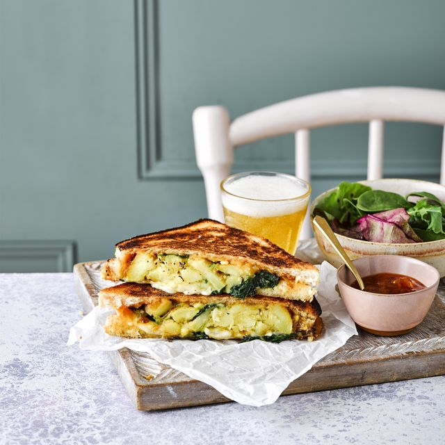 curried bubble and squeak toasties