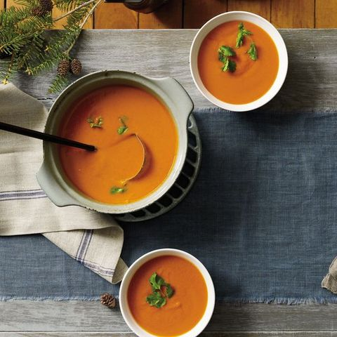 meatless recipe - curried carrot lentil soup