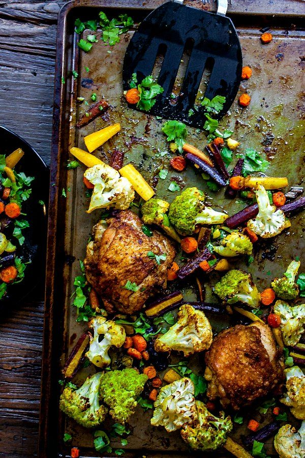 Sheet Pan Curried Chicken and Vegetables