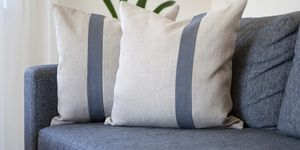 Cushions On Sofa At Home