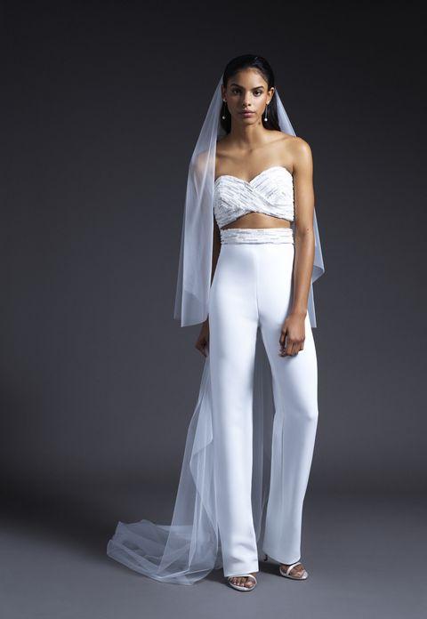 Fashion model, White, Clothing, Dress, Shoulder, Gown, Wedding dress, Beauty, Fashion, Model,