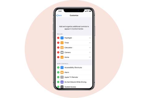 tùy chỉnh trung tâm điều khiển apple iphone