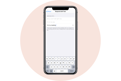 customize respond text apple iphone