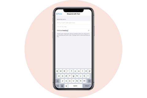 tùy chỉnh trả lời văn bản apple iphone